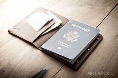 Leather Passport Wallet - by Mr. Lentz