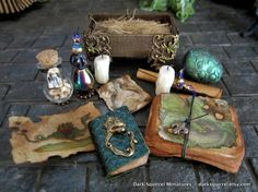 Dragon Keeper Accoutrements ooak dollhouse miniature in one inch scale… Haunted Dollhouse, Haunted Dolls, Dollhouse Dolls, Miniature Dolls, Dollhouse Miniatures, Harry Potter Halloween, Halloween Miniatures, Halloween Tutorial, All The Small Things