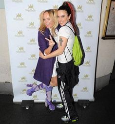 Fans of the Spice Girls will love this one! Emma Bunton, 37 and Mel C, 39, chose to recreate their Spice Girls alter egos Baby and Scary at a birthday party for friend and DJ Leigh Francis in London over the weekend. And they haven't changed a bit in 20 years!
