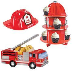Sound the Alarm!!!  The Cutest Fireman Party Supplies are here!!! Available at viablossom.com