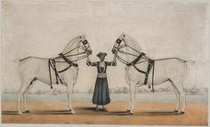 A Syce Holding Two Carriage Horses [India (Calcutta)] (1994.280) | Heilbrunn Timeline of Art History | The Metropolitan Museum of Art