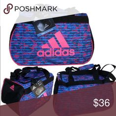 f6cf145334 RARE PINK ADIDAS GYM BAG RARE! Adidas Oblivion Black Gym Bag to suit your  personal style. Detailed Product Description Polyester 600D polyester  Dimensions  ...
