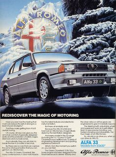 Alfa Romeo Automobiles S. is an Italian automaker founded in Alfa Romeo has been a part of the Fiat Group since Welcome to the Alfa Romeo Owner… Vintage Advertising Posters, Car Advertising, Vintage Advertisements, Vintage Ads, Alfa Romeo Logo, Alfa Romeo Cars, Custom Classic Cars, Car Brochure, Classic Motors