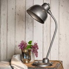 Newark #Desk #Lamp in Polished finish made by Jim Lawrence - the perfect way to style your home with an industrial/ vintage feel.