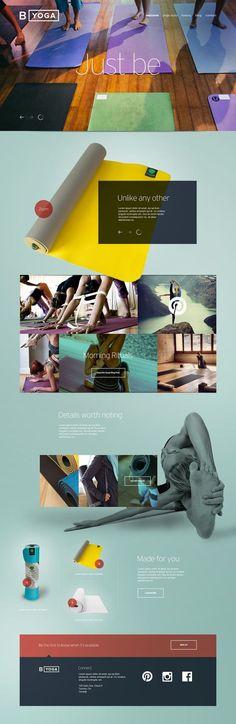 B Yoga Website Design Concept by John Speed, via Behance