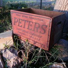 Vintage Peters Ammunition Box -  Wooden Small Arms Crate