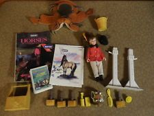 Breyer Horse Rider Girl Figure Leather Saddle & Accessories