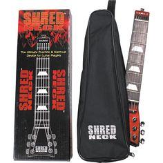 Shredneck Practice Guitar Neck Red Metalflake