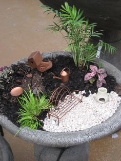 2nd of the 3 fairy garden planters I'm working on.