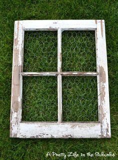 Old Window ideas | Craft Ideas | Pinterest