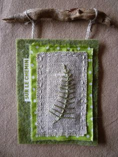 Nature embroidered ornament by les fabulations