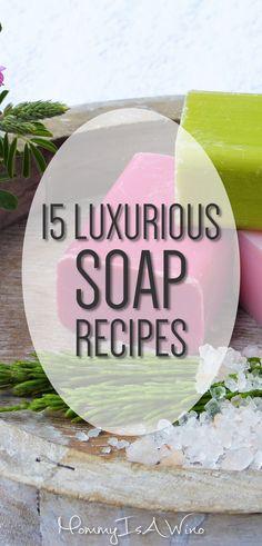 Luxurious DIY Soap Recipes
