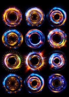 Experiments with optical flares on Behance Optical Flares, Arte Cyberpunk, Magic Symbols, Digital Painting Tutorials, Light Painting, Motion Design, Art Tips, Game Art, Fantasy Art