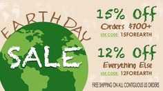 Happy #EarthDay! To celebrate this momentous occasion, choose between 2 great deals. Oh and by the way, everything in our store now qualifies for free shipping! Great Deals, Everything, Free Shipping, Store, Happy, Larger, Ser Feliz, Shop, Being Happy