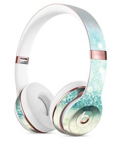 The Pink and Mint Watermelon Cocktail Pattern Full-Body Skin Kit for the Beats by Dre Solo 3 Wireless Headphones Cute Headphones, Bluetooth Headphones, Over Ear Headphones, Beats By Dre, Gold Diy, Apple Products, Audiophile, Phone Accessories, Headset