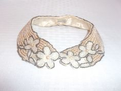 50s 60s Vintage Pearl and Bead Collar with by MyVintageHatShop