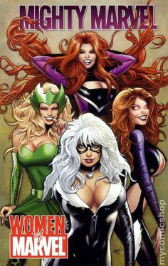 Women of Marvel: Mighty Marvel... sigh, must the costumes always be drawn this way?