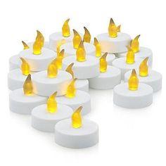 Flameless LED Tea Lights Home Decor Fall Autumn Halloween Candles Flickering