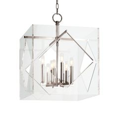 HUDSON VALLEY 5920-PN - TRAVIS 8 LIGHT PENDANT, Polished Nickel