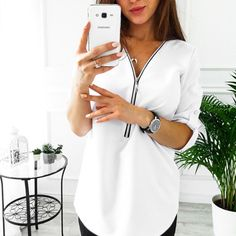 Zipper Short Sleeve Women Shirts Sexy V Neck Solid Womens Tops And Blouses Casual Tee Shirts Tops