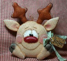 E-Pattern - Junior Flyer Rudolph Reindeer Pattern #185 - Primitive Doll E-Pattern