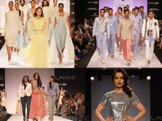 Living the Fashion Week  Fashion Weeks are a source of the clothing we will eventually wear perhaps, another tomorrow. This fashion week, was characterized by sheer fabrics, pastel (sweet as ice cream) coloured ensembles, and the same is incorporated in the above mentioned brands.