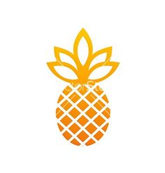 Pineapple icon fruit abstract logo vector by mydigitall - Image ...