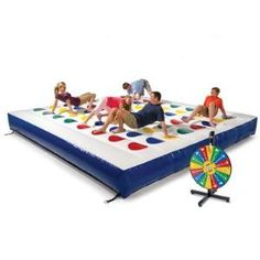 Jumbo inflatable twister! awesome! We could have one heck of a party with this thing in the backyard!!!