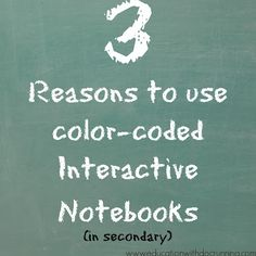 Student engagement and more importantly understanding of math concepts definitely increased when I started using color-coded notebook pages.