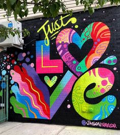 art illustration Jason NAYLOR jasonnaylor jnay NAYLOR JUST LOVE!!!  Finished mural at Leslies Kitchen in Bushwick.Wilson / Scott. Also the burger there is AMAZING. Go take pics and eat burgers LOL. ANDDDD... theres no better time than now... dont say it. Do it. JUST LOVE.  Painted with love and @montanacans  Art by Jason Naylor jason jason naylor naylor art