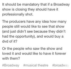Especially when it comes to Original Broadway Casts