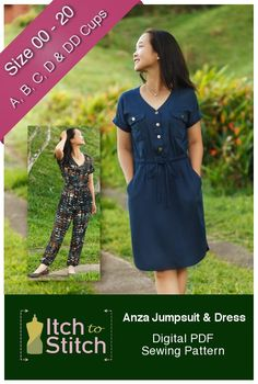 The Anza Jumpsuit & Dress pattern is in the store today! For this week only, the Anza Jumpsuit & Dress pattern is 20% off. The volume discount still applies! Remember to check out other pat…
