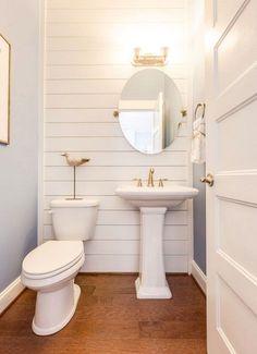 Tiny Shiplap Bathroom Ideas #smallbathroomdesigns