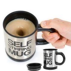 Online Shop 1Pcs Automatic Plain Mixing coffee Tea cup Lazy Self strring mug button Pressing YKS|Aliexpress Mobile