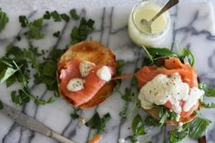 Smoked salmon sandwich with egg free lemon yoghurt aioli