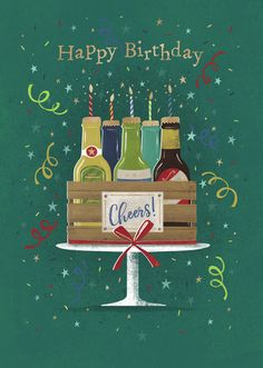 Happy Birthday Cheers, Happy Birthday Cousin, Happy Birthday Quotes For Friends, Happy Birthday Greeting Card, Art Birthday, Birthday Messages, Birthday Images, Birthday Cards, Happy B Day