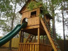 This looks similar to the fort DH built for our kids when they were little- except we had a chicken coop underneath.
