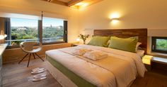 """At the first floor there is the master bedroom with a King size Bed. It's your next vacation house during your vacation in our """"Villa Orangia"""" - Crete, Greece. You can rent it ! Greece Villa, Holiday Home, Greek Villas, Bed Design, Bed, Luxury Bedding, Indoor, Mansion Rooms, Hotel Furniture"""
