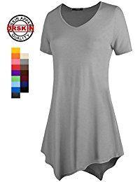 7bb8ee36eca6f9 Amazon.com  Grey - Tunics   Tops   Tees  Clothing