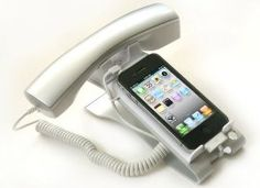 Cyanics iClooly Phone Handset and Sync Stand for iPhone 4, 3GS, 3G, and Other Wireless Phones with 3.5 mm Headphone Jack : Cellphone Stands