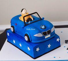 BMW car cake  BMW lovers 💙💙 Blue amazing car cake 💙🖤💙