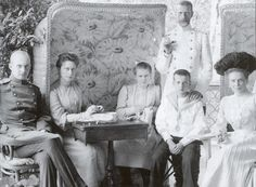Princess Zenaide with Grand Duchess Elizabeth, Grand Duchess Maria, Grand Duke Serge and Grand Duke Dmitri