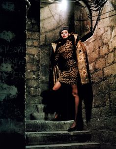 1992 - Yves Saint Laurent Rive Gauche, Helmut Newton for Harper's Bazaar, September 1992 Helmut Newton, Ysl, Leopard Print Outfits, Leopard Fashion, Yves Saint Laurent, Berlin, Nadja Auermann, Rive Gauche, French Fashion Designers