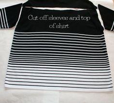 Striped sweater skirt refashion tutorial