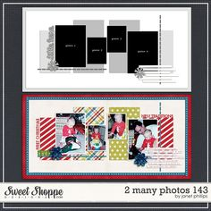 Sweet Shoppe Designs :: 2 Page Layout Templates :: 2 Many Photos 143 by Janet Phillips Birthday Scrapbook Layouts, Christmas Scrapbook Layouts, Scrapbook Layout Sketches, Scrapbook Templates, Scrapbooking Layouts, Scrapbook Pages, Digital Scrapbooking, Page Template, Layout Template