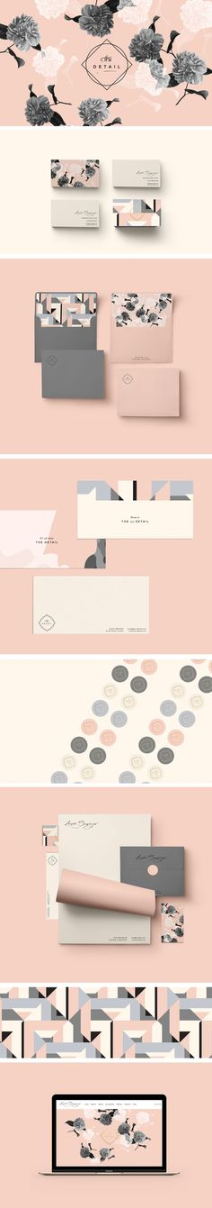 Laura Sawyer Brand Identity by Cocorrina branding design Logo Inspiration, Fashion Design Inspiration, Illustration Inspiration, Corporate Design, Brand Identity Design, Graphic Design Branding, Corporate Identity, Visual Identity, Brand Design