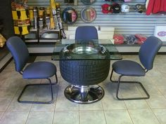Tire Dinette Table