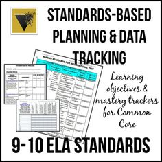 Standards-Based Planning and Data Tracking for Common Core ELA/Literacy Common Core Ela, Common Core Standards, Data Tracking, Tracking System, Gradual Release Of Responsibility, Ap Language, English Language, Classroom Procedures, Classroom Management