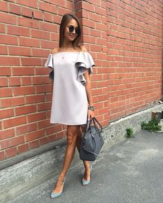 casual work outfits for women with skirt 33 Casual Work Outfits, Casual Dresses, Short Dresses, Fashion Dresses, Look Fashion, Girl Fashion, Womens Fashion, Fashion Tips, Trends 2018