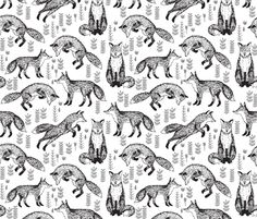 ©  Copyright  Andrea Lauren -  You are permitted to sell items you make with this fabric, but request you credit Andrea Lauren as the designer. Coordinates: Solids -- Warm, Solids - Cool, Dots  View other Black and White pattern designs